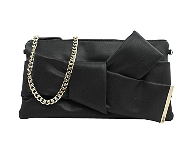 buy popular 023de 6a9d8 BORSA DONNA LIU JO POCHETTE FIOCCO BLACK 118: Amazon.co.uk ...