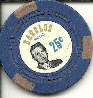($.25 harolds club for fun casino chip reno nevada obsolete)