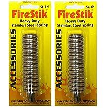 LOT OF 2 Firestik SS-3H Stainless Steel Heavy Duty CB Radio Antenna Spring Mount by FireStik
