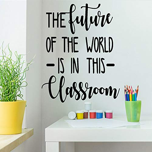 The Future of The World is in This Classroom Inspirational Quotes Wall Decals Positive Life Attitude Vinyl Art for School Decor