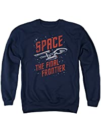 Star Trek Space Travel Mens Crewneck Sweatshirt