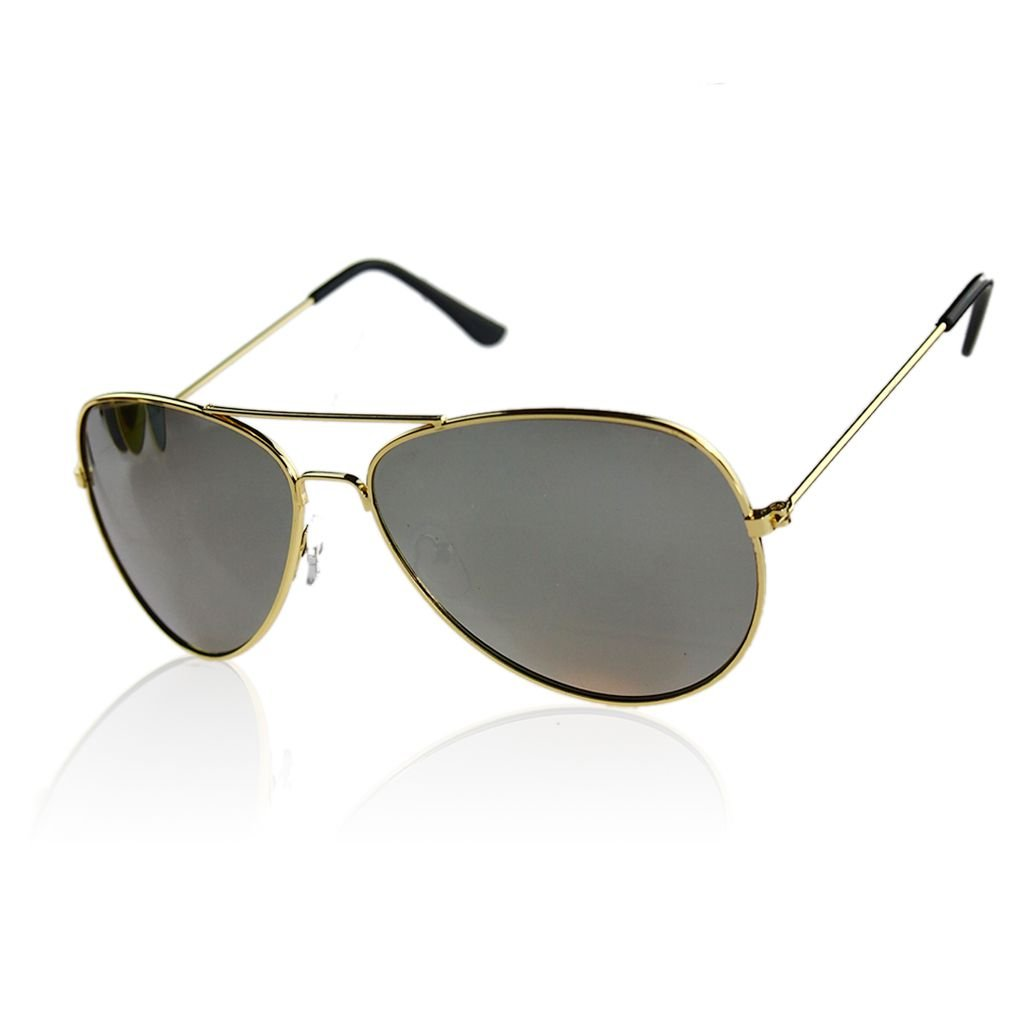 Minzhi T Man Le Donne degli Uomini degli Occhiali da Sole allaperto della Struttura del Metallo Riflettente UV400 Lente Eyewear