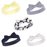 Hudson Baby Girls' Headband, 5 Pack, Daisy, 0-24 Months