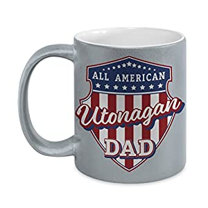 Utonagan Dad Mug - Silver Cup Gift for Dog Lover American Patriots 3