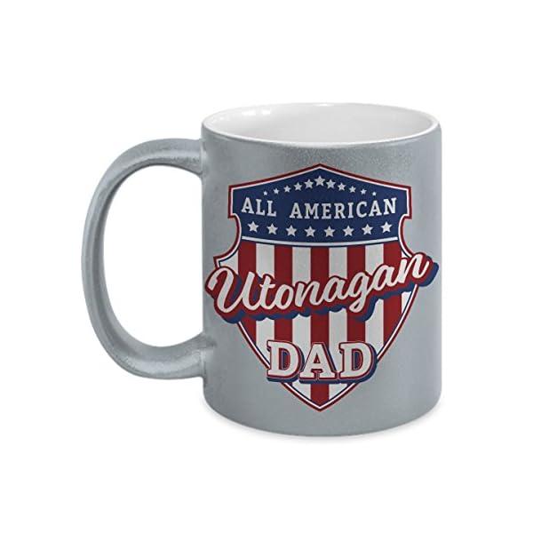 Utonagan Dad Mug - Silver Cup Gift for Dog Lover American Patriots 1