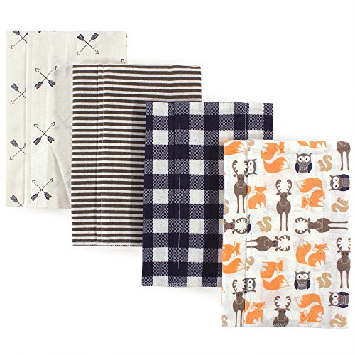 Hudson Baby Flannel Burp Cloth, 4 Pack, Forest, One Size by Hudson Baby (Image #2)