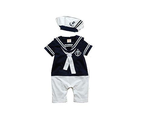 Simpáticos Marinière – Mono * Talla 74 * Azul Pelele bebé parte Traje Einteiler