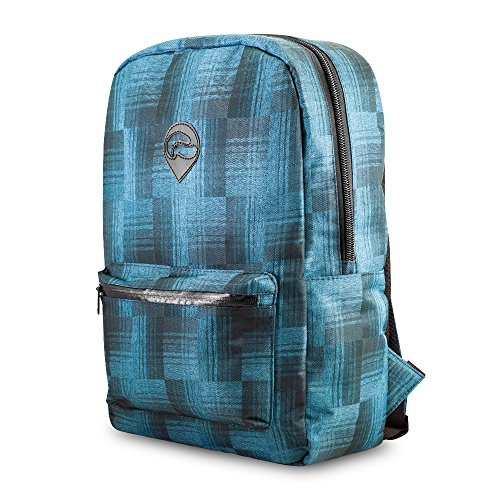 Skunk Element School Backpack- Smell Proof - Water Proof (Blue plaid)