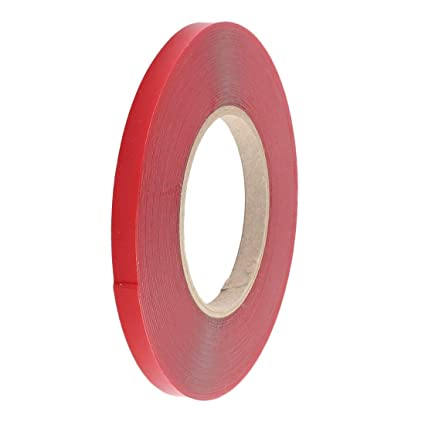 SLB Works 10mm Width 10M Length Double Sided Adhesive Tape Red for Cell Phone Repair