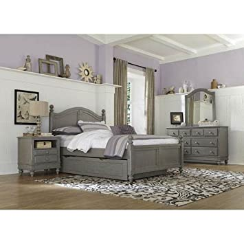 NE Kids Lake House Payton Full Arch Bed With Trundle In Stone