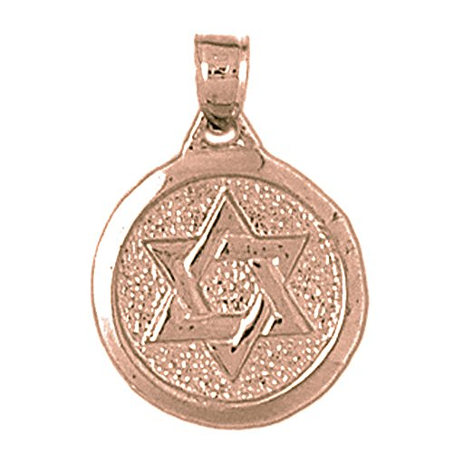 Rose Gold-plated Silver 20mm Star of David Pendant
