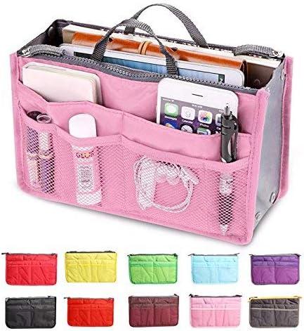 Amazon.com: Makeup Organizer Bag - New Fashion Beautician Make Up Bag Women Multi Functional Cosmetic Bag 0rganizer Handbag Cosmetics maleta de maquiagem - Cosmetic Bag Organizer (pink): Health & Personal Care