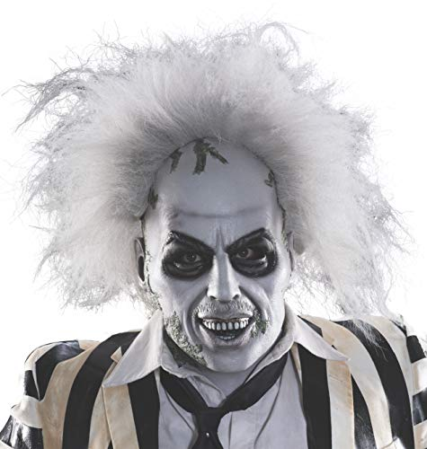 (Rubie's Men's Beetlejuice Overhead Latex Mask with Hair, Multi, One)