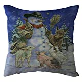 AMSKY Chrismas Pillow Case Covers with Zipper Standard,Christmas Santa Claus Pillow Case Linen Sofa Throw Cushion Cover Home Decor,Cleaning Supplies