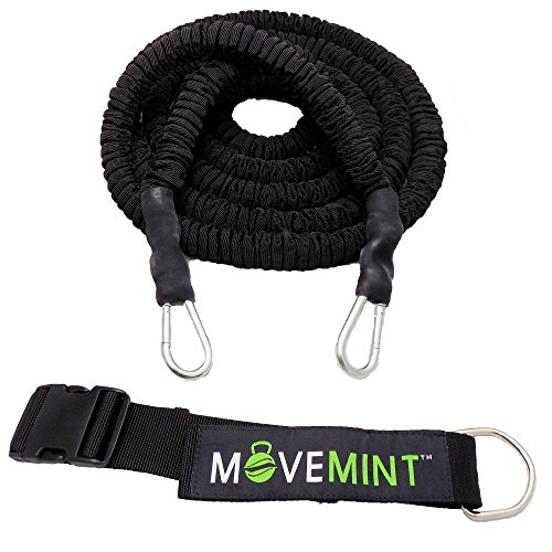 MOVEMINT Speed Resistance Bungee Cord Band Trainer – 33ft Length (Longest in Market)