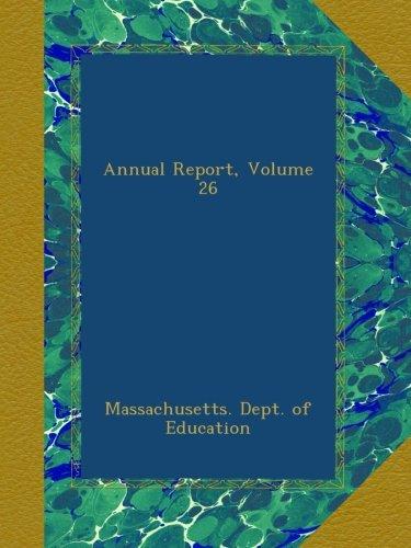 Annual Report, Volume 26 pdf epub