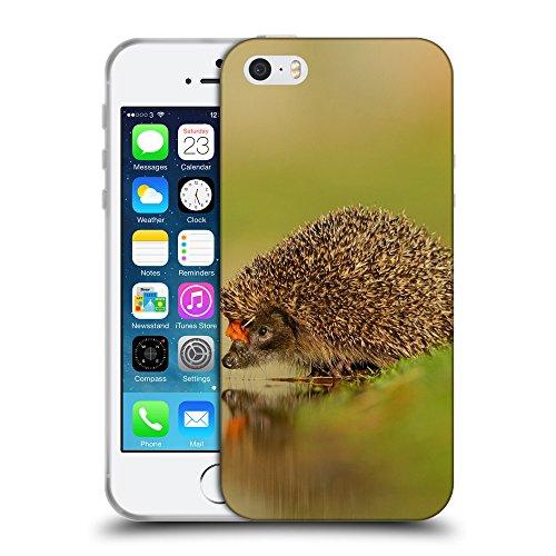 Just Phone Cases Coque de Protection TPU Silicone Case pour // V00004141 hérisson boit de l'eau // Apple iPhone 5 5S 5G SE