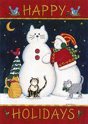 Happy Holidays Snowcat - LPG Cat Box of 18 Christmas Cards