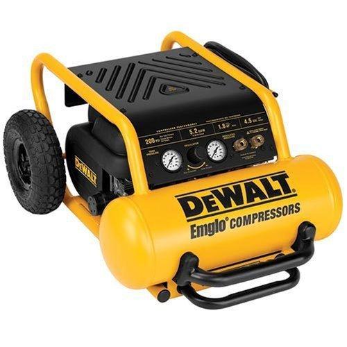 DEWALT D55146R Heavy Duty 4.5 Gallon Compressor with Wheels