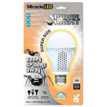 Miracle LED 605012 7 Watt Super Spider Light, Spider Free Deck and Porch Light, Yellow