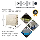 Porch Shield Waterproof 80-100 Qt Rolling Cooler