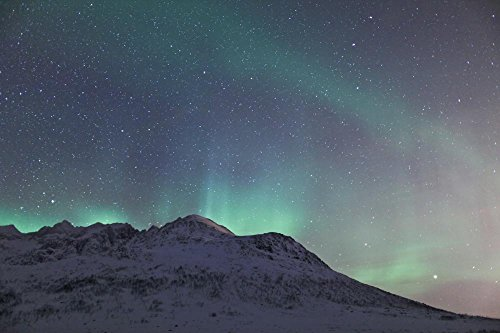 Aurora Borealis Wall Decal Mural - 42 Inches W x 28 Inches H - Peel and Stick Removable Graphic