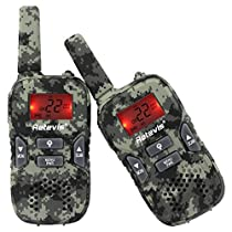 Retevis RT33 Kids Walkie Talkies FRS License-free 2 Way Radios for Children with VOX and Flashlight Function (Camouflage, 1 Pair)