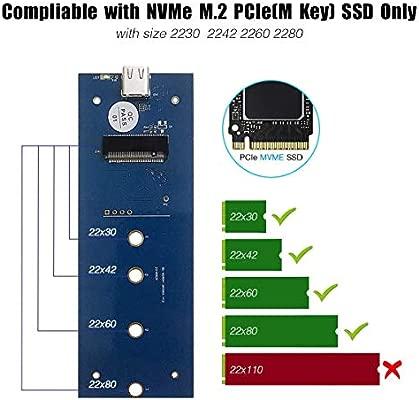 ZED- M.2 NVMe Enclosure USB C 3.1- Adaptador de Lector SSD Tipo C ...