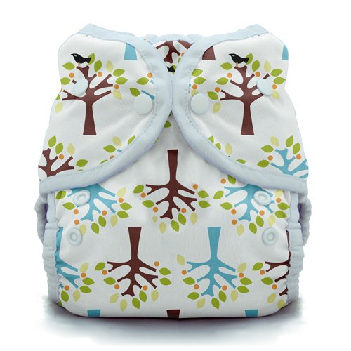 Thirsties Duo Wrap Cloth Diaper Cover, Snap Closure, Blackbird Size One (6-18 lbs)