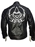 Tom DeLonge Angels and Airwaves Love AVA Vintage Men's Leather Jacket | Mens Black Jacket (XXXL)