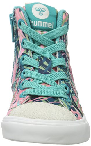 Hummel Strada Jungle Jr, Zapatillas Altas para Niñas Multicolor (Viridian Green)