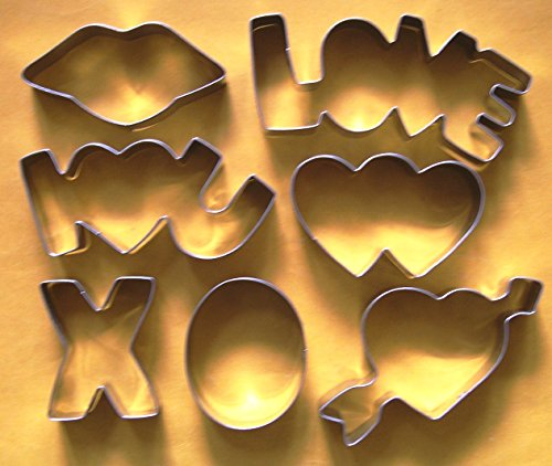 LAWMAN Love hearts wedding valentine day fondant pastry baking cookie cutter set