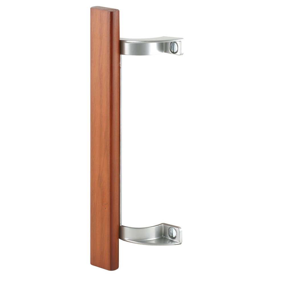 Prime-Line Products C 1189 Sliding Door Pull with Hardwood Handle and 6-1/2-Inch Hole Centers, Aluminum