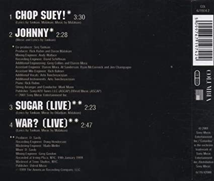 chop suey song meaning