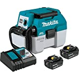 Makita XCV11T 18V LXT Lithium-Ion Brushless Cordless 2 Gallon HEPA Filter Portable Wet/Dry Dust Extractor/Vacuum Kit (5.0Ah)