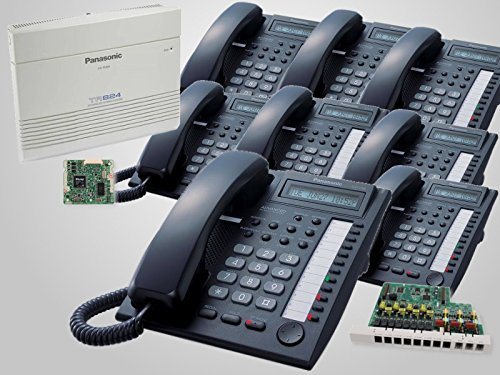 Panasonic Phone System KX-TA824/KX-TA82483/KX-TA82493 + 8 Black KX-T7730 Phones (Ta82493 Caller Id Feature Card)