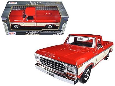Amazon Maisto 1979 Ford F 150 Pickup Truck 2 Tone Red Cream 1