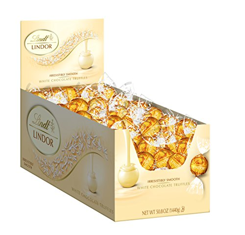 Lindt LINDOR White Chocolate Truffles, Kosher, 120 Count