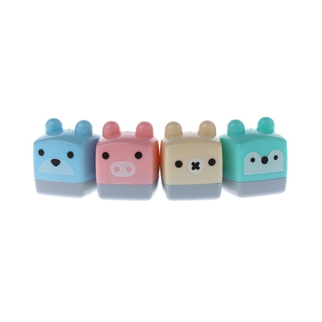 Tandou Mini Kawaii Cartoon Candy - Sacapuntas de colores para suministros escolares