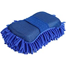 Gee Gadgets 414844 Two Sided Car Wash Sponge - Chenille Microfiber Duel Scrubber with Built in Hand-Strap – Absorbent and Scratch-Free Clean – by