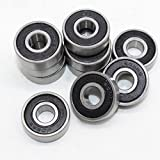 VANPRO 20pack 608RS Electric Skateboard Bearing,Rolling bearings, 8x22x7 High precision Carbon steel