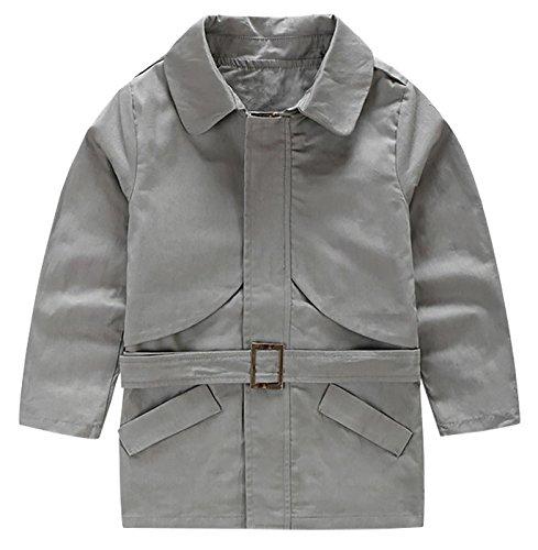 Aivtalk Toddler Boys Zipper Trench Coat Adjustable Belt Slant Pockets Kids Outwear 4-5T (Pocket Trench)