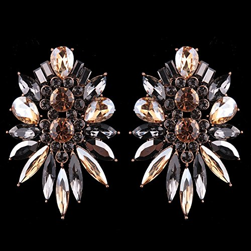 Dvacaman Brand Luxury Crystal Statement Earrings Women Wedding Bridal Drop Hanging Earrings Fashion Flower Jewelry Bijoux MM70-in Drop Earrings