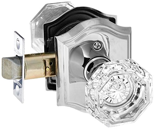 Baldwin PS.CRY.Tar Crystal Passage Door Knob Set with Traditional Arch Trim from, Polished Nickel ()