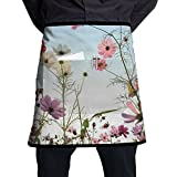 Daisy Field In The Sunny Day Aprons Chef Apron For Women Men Girl Kids Gifts Kitchen Decorations With Pocket