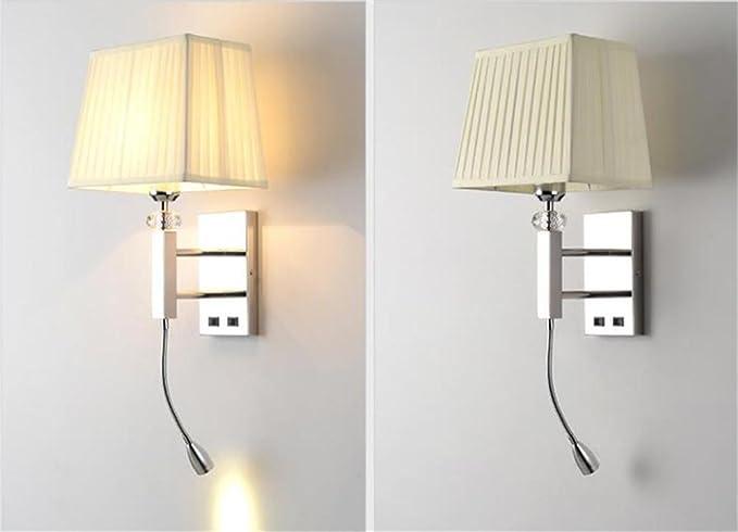 Lampada da parete per interni stile moderno per hotel applique da