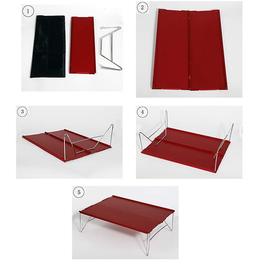 Lixada Mini Mesa Plegable al Aire Libre Mesa Desmontable de Aluminio Ligero para Acampar Senderismo Barbacoa Picnic Comida
