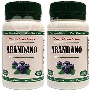 ARÁNDANO 500 mg. 2 x 100 comprimidos. Dra. BANNISTER: Amazon.es: Salud y cuidado personal