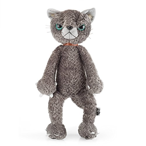 Angry Cat Plush Puppets Doll Stuffed Animal Toy -15.7inch,Grey