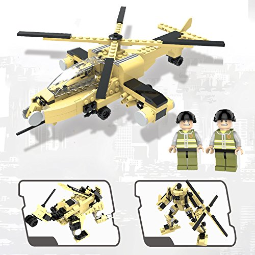 King 2 Helicopter (Army Toys for Boys, Military Airplane Toy, Helicopter and Transformers, Educational Building Kits, Christmas and New Year's Gifts for Kids (Helicopter))